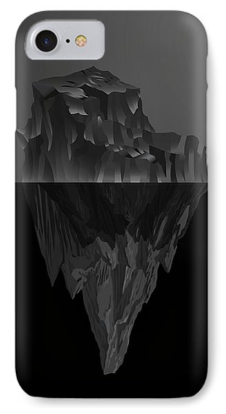 The Black Iceberg IPhone Case