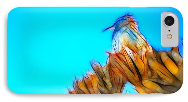 IPhone Case featuring the photograph The Cactus Wren by Donna Greene