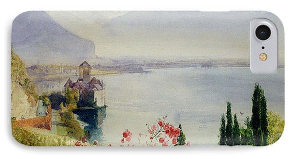 The Castle At Chillon IPhone Case by John William Inchbold