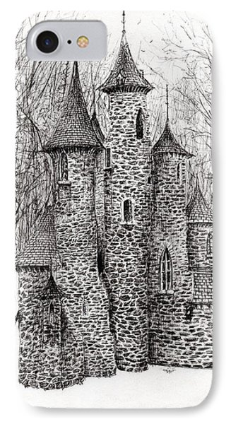 The Castle In The Forest Of Findhorn IPhone Case by Vincent Alexander Booth