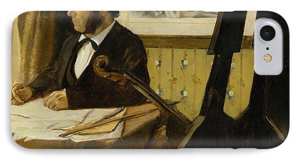 The Cellist Pilet IPhone Case by Edgar Degas