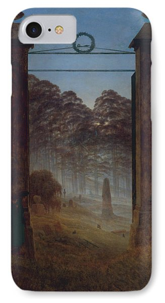 The Cemetery IPhone Case by Caspar David Friedrich