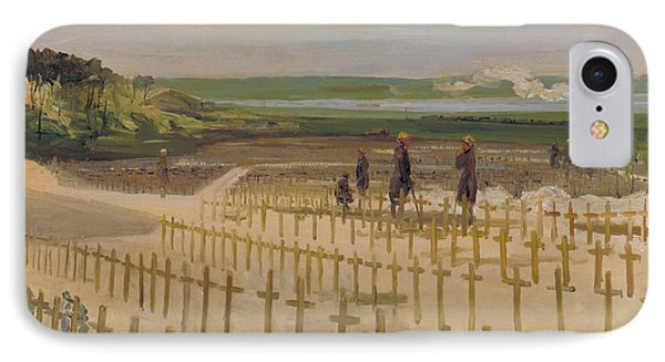 The Cemetery, Etaples IPhone Case by John Lavery