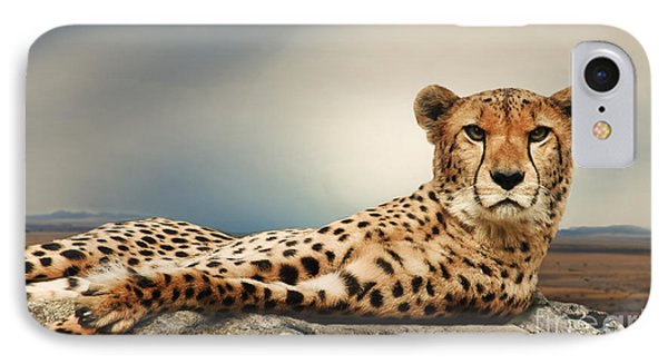 IPhone Case featuring the photograph The Cheetah by Christine Sponchia