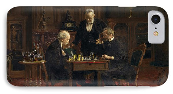 The Chess Players IPhone Case by Thomas Eakins