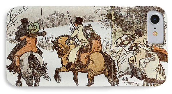 The Curmudgeons Christmas  Horse Riding IPhone Case