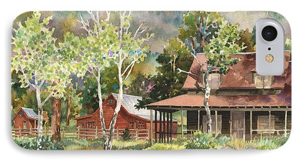 IPhone Case featuring the photograph The Delonde Homestead At Caribou Ranch by Anne Gifford