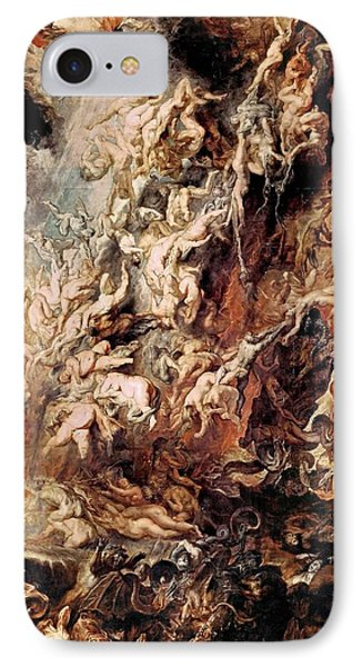 IPhone Case featuring the painting The Fall Of The Damned by Peter Paul Rubens