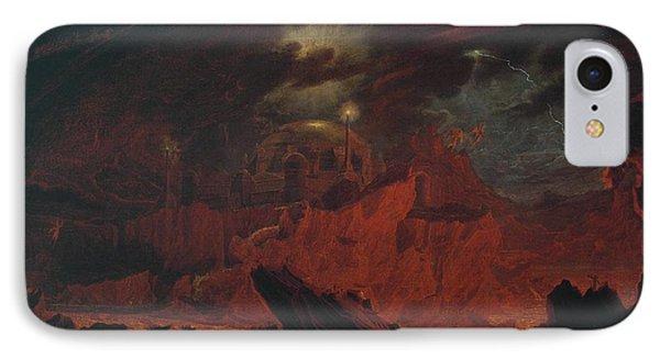 The Fallen Angels Entering Pandemonium IPhone Case by John Martin