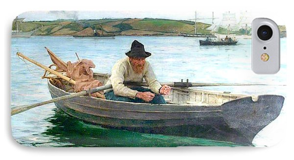 IPhone Case featuring the painting The Fisherman by Henry Scott Tuke