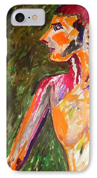 IPhone Case featuring the painting Benjamin Beseiged by Esther Newman-Cohen