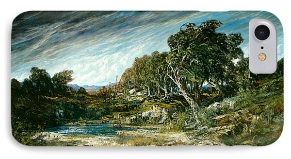 The Gust Of Wind IPhone Case by Gustave Courbet