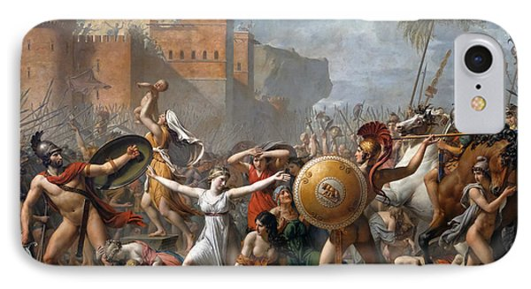The Intervention Of The Sabine Women IPhone Case by Jacques-Louis David