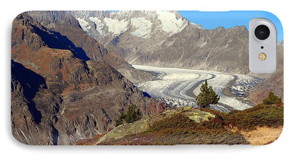 The Large Aletsch Glacier In Switzerland IPhone Case