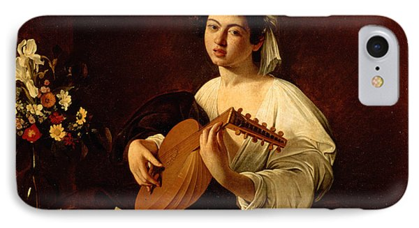 Music iPhone 7 Case - The Lute-player by Caravaggio