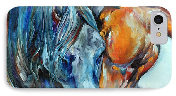 The Meeting  IPhone Case by Marcia Baldwin