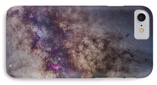 The Milky Way Around The Small IPhone Case by Alan Dyer