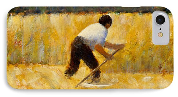 The Mower IPhone Case by Georges-Pierre Seurat