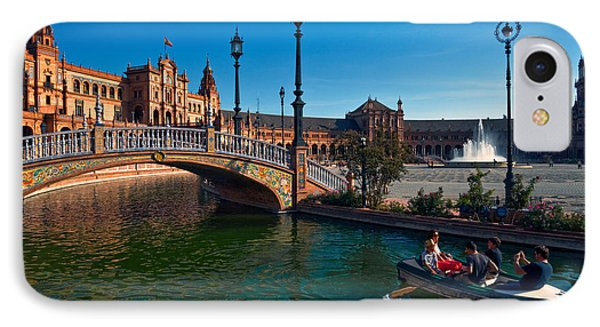 The Plaza De Espana, In Maria Luisa IPhone Case by Panoramic Images