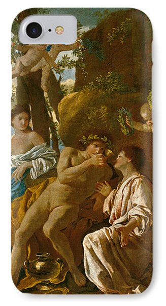 The Poet's Inspiration IPhone Case by Nicolas Poussin