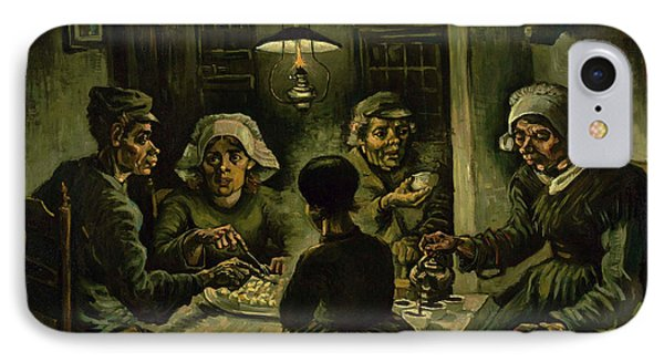 The Potato Eaters, 1885 IPhone Case by Vincent Van Gogh