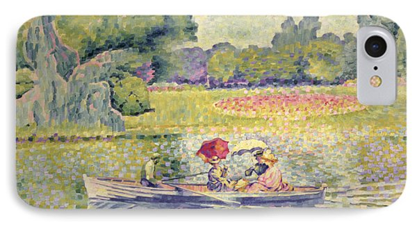 The Promenade In The Bois De Boulogne IPhone Case by Henri-Edmond Cross