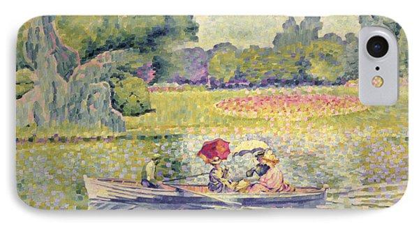 The Promenade In The Bois De Boulogne Phone Case by Henri-Edmond Cross
