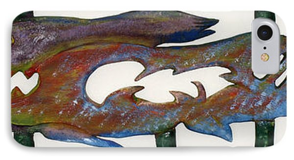 IPhone Case featuring the mixed media The Prozak Fish by Robert Margetts