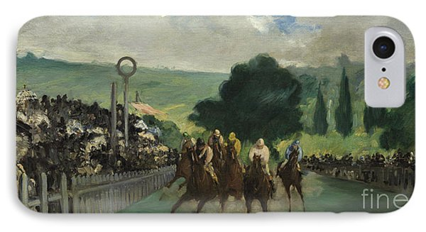 The Races At Longchamp IPhone Case by Edouard Manet