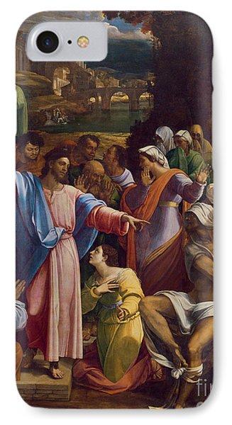 The Raising Of Lazarus IPhone Case by Sebastiano del Piombo
