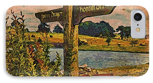 IPhone Case featuring the digital art The Road To Hobbiton by Kathy Kelly