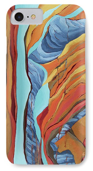 IPhone Case featuring the painting The Rocks Cried Out, Zion by Erin Fickert-Rowland