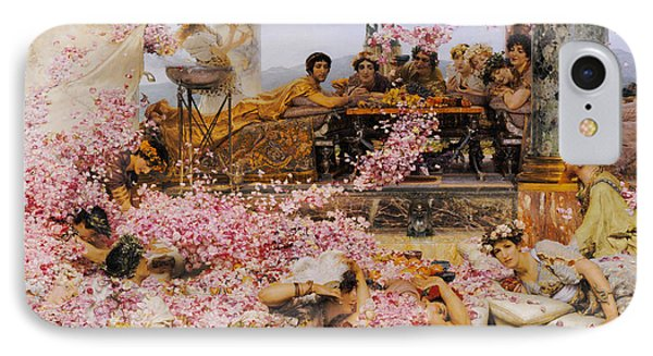 The Roses Of Heliogabalus IPhone Case by Lawrence Alma-Tadema