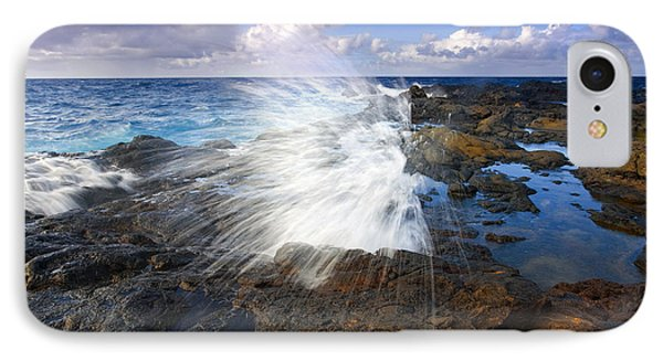 The Sea Erupts Phone Case by Mike  Dawson