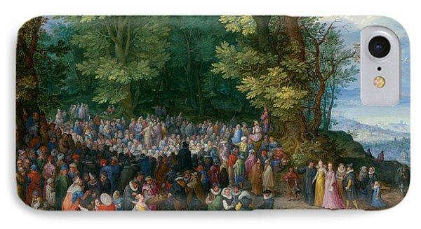 The Sermon On The Mount IPhone Case by Jan Brueghel the Elder