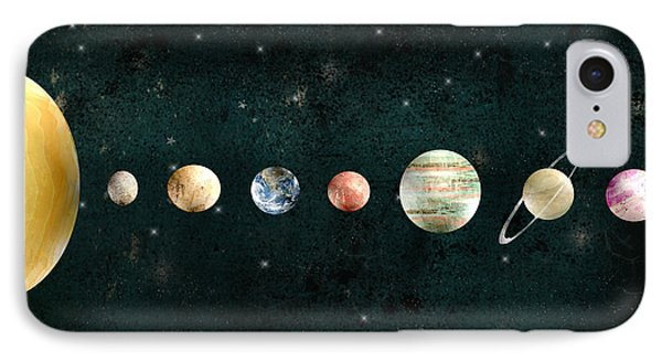 The Solar System IPhone Case by Bri B