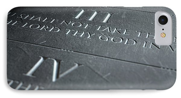 The Third Commandment IPhone Case by Allan Swart