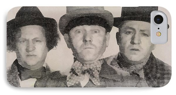 The Three Stooges Hollywood Legends IPhone Case by John Springfield
