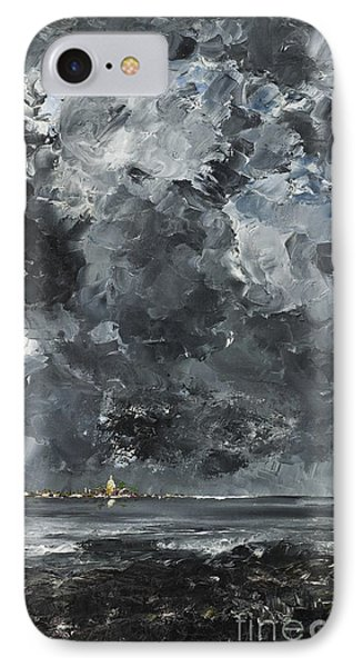 The Town IPhone Case by August Johan Strindberg