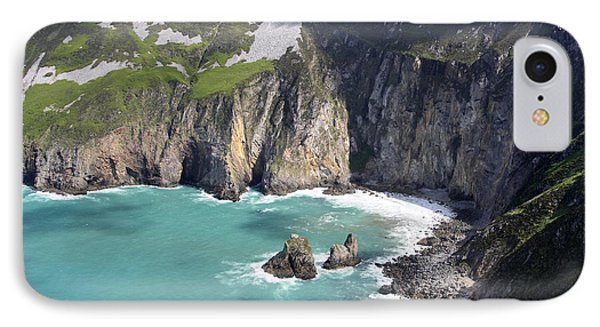 The Turquoise Water At Slieve League Sea Cliffs Donegal Ireland  Phone Case by Pierre Leclerc Photography