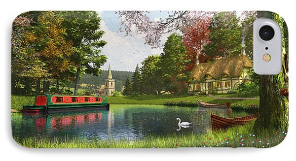 The Valley Cottage Variant 1 IPhone Case by Dominic Davison