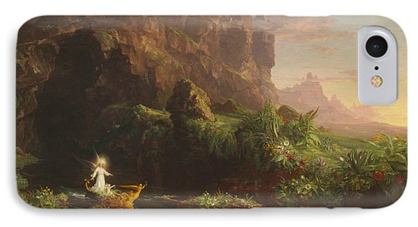 The Voyage Of Life, Childhood IPhone Case by Thomas Cole