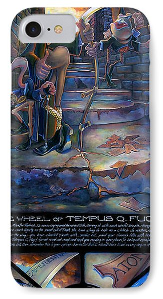 The Wheel Of Tempus Q. Fugit IPhone Case by Patrick Anthony Pierson