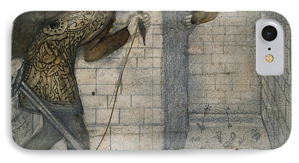 Minotaur iPhone 7 Case - Theseus And The Minotaur In The Labyrinth by Edward Burne-Jones