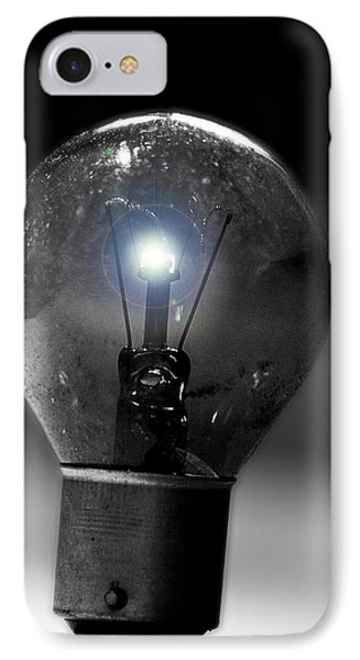 Thinking Bulb IPhone Case by Martin Newman