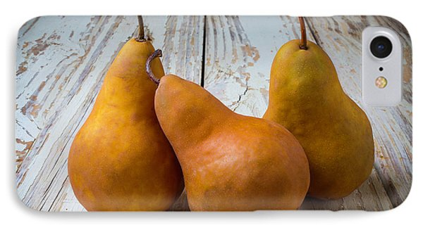 Three Golden Pears IPhone Case by Garry Gay