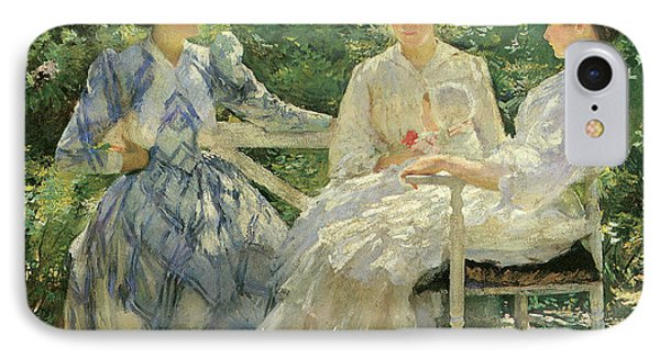 Three Sisters A Study In June Sunlight IPhone Case by Edmund Charles Tarbell