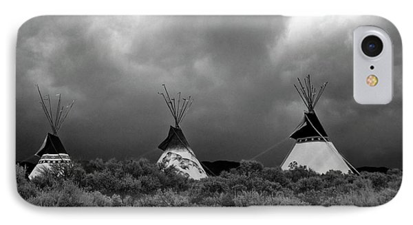 Three Teepee's IPhone Case by Carolyn Dalessandro