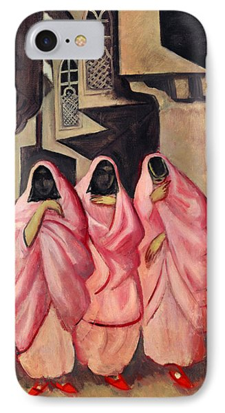 Three Women On The Street Of Baghdad IPhone Case by Jazeps Grosvalds