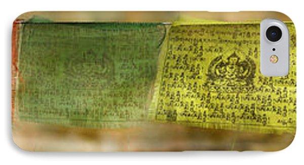 Tibetan Prayer Flags IPhone Case by Peter v Quenter